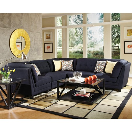 Midnight Blue Sectional