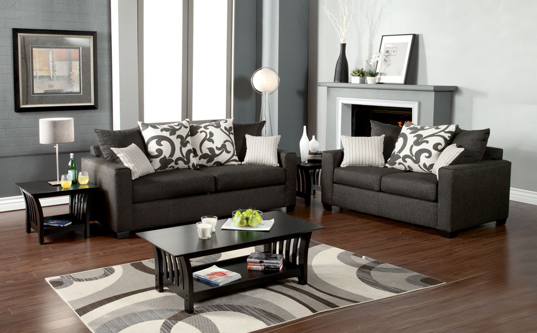 Superbe Colebrook Sofa Set In Charcoal