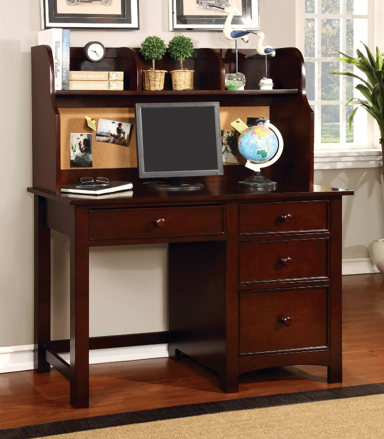Omnus Cherry Desk With Hutch